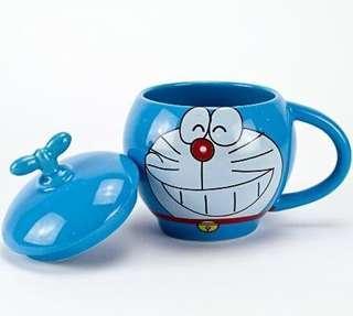 多啦A夢杯 叮噹咖啡杯 Doraemon 300ml ceramic coffee mug cup 連蓋咖啡杯 叮噹精品