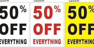 50% off on some of my items!! check out my profile