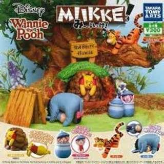 Winnie the Pooh 跳跳虎扭蛋公仔 X3
