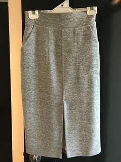 Cameo collection grey ponte skirt size S