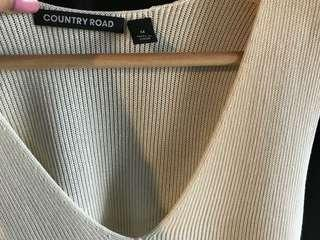 Country road cream knitted top size M