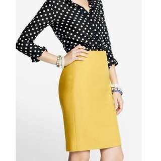 JCrew yellow mustard skirt