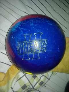 first drill 14.2lbs bowling ball(read description)