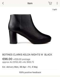 Clarks  Genuine Leather Women Ankle Boots Sold above $200 online