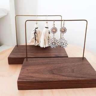Two Wood Earring Holder (including Postage)