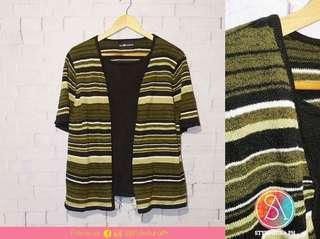 Green Stripe Inner Top w/ Inner Shirt