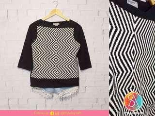 Black & White Optival Sweater
