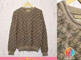 Unisex Brown Knitted Sweater