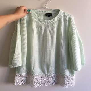 Mint loose top