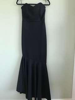 Black mermaid gown