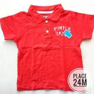 PLACE COLLARED TSHIRT SIZE 24 MONTHS (RED)