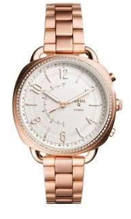 BRAND NEW FOSSIL Women's Q Hybrid Crystal Accented Smart Bracelet Watch, 38mm