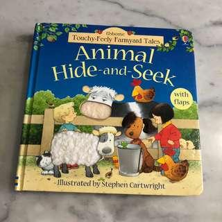Animal hide and seek book lift the flap