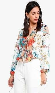 MISGUIDED floral wrap