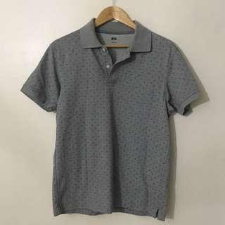 Uniqlo Dotted Grey Polo Shirt