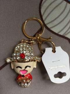 Crystal key chain 財神掛飾