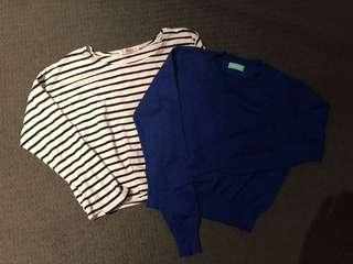 ⭐️Korean knit sweater cropped tops (2pieces)