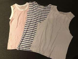 ⭐️Korean Boyfriend style long T-shirt (dress) (3pieces)