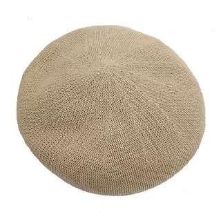 👍Beige fibre beret