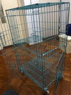 Cage+細沙盤+自動飲水機,膠碗