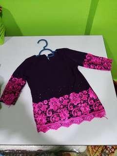 Baju Kurung Batu Permata ( 1-2 years )