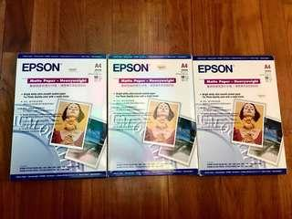 Brand New EPSON Matte A4Photo Quality Paper