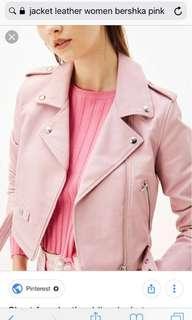 jacket lether bershka