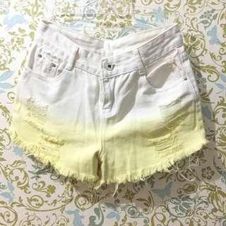 Celana pendek ripped hotpants ombre