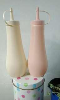 Botol minyak kecap saus mayones warna soft Rp.40.000