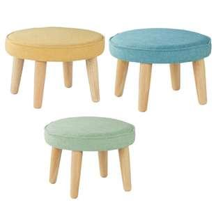 Wood and Fabric Stool - Office Furniture