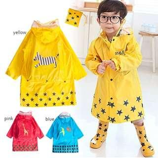 🚚 (MiQi)Smally 兒童帶書包位雨衣 幼兒 男童 女童 帶書包位雨衣M~2XL