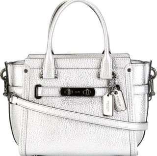 Coach Swagger 21 silver bag
