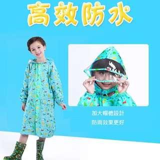 🚚 (MiQi)兒童帶書包位恐龍雨衣 男童女童幼兒帶書包位恐龍雨衣 卡通帶書包位恐龍雨衣 L~4XL