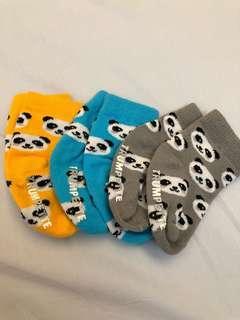 熊貓嬰兒止滑襪