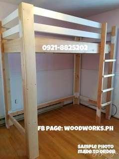 Wooden LoftBed 36x75