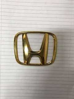 Original halfcut front gold emblem Honda jazz fit gd