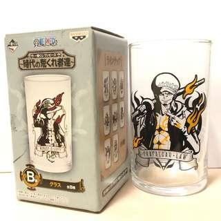 日本正版 one piece 海賊王 羅 玻璃杯 潑墨