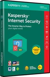 Kaspersky for 1 user 2019 internet security