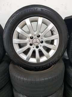 16 Inch 5x112 Used Original Mercedes Rim & Tyre