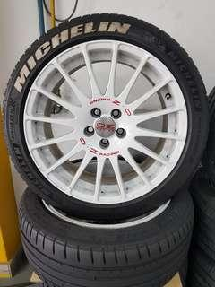 17 Inch 5x100 Used Original OZ Rim & Tyre