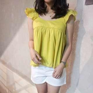 Julia top baju atasan model sabrina ready warna Kuning, abu, putih, hijau