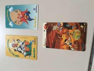 Disney land old phone cards
