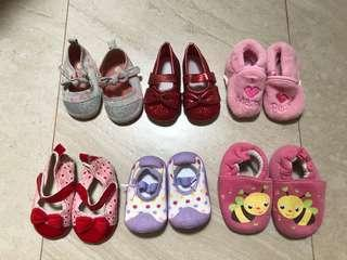 Baby girls first shoe