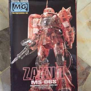 MG Zaku ii MS-06S crystal version