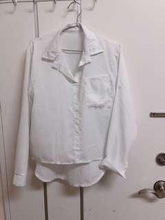 🚚 雪紡v領襯衫
