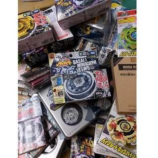 HK$288/1盒 ~ 絕版爆旋陀螺 鋼鐵戰魂 玄武時計 BB104 New Takara Tomy Beyblade Basalt Horogium
