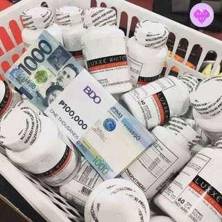 Authentic Luxxe White Enhanced Glutathione with free soap