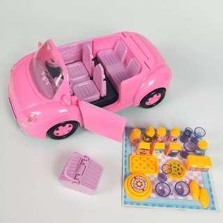 Peppa pig sport car family play set
