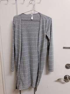 🚚 灰色條紋棉質外套