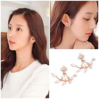 RoseGold Embellished Ear Jackets